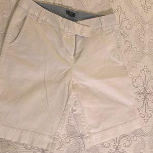 J Crew White City Fit Stretch Shorts Size 6